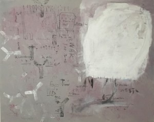 On my mother side, acrylic and chalk on linen, 110 x 140 cm, 2015