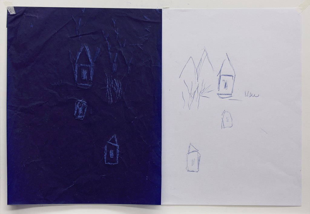 Carbon paper and pencil on paper, 29, 7 x 42 cm, August 2015